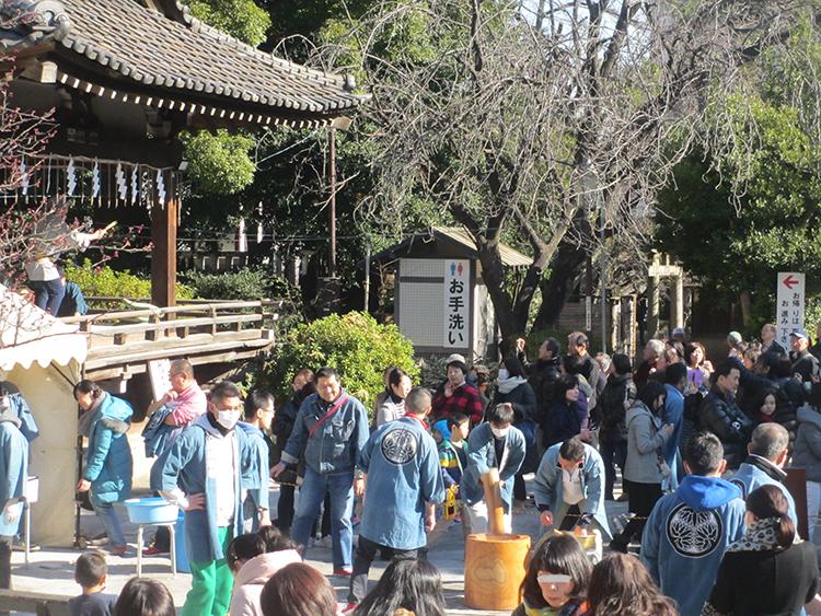 品川神社初詣餅つき