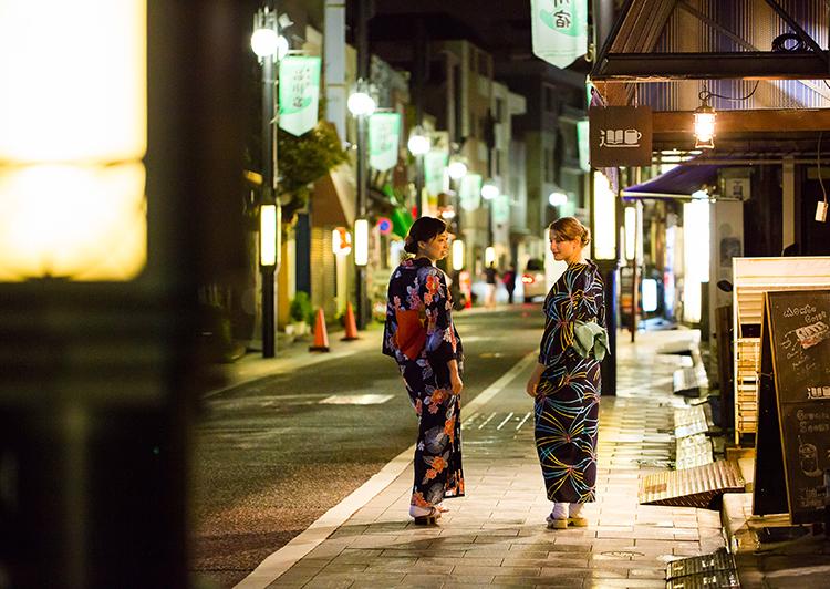 旧東海道品川宿夜景