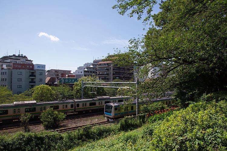 鉄道100景 大森貝塚と京浜東北線