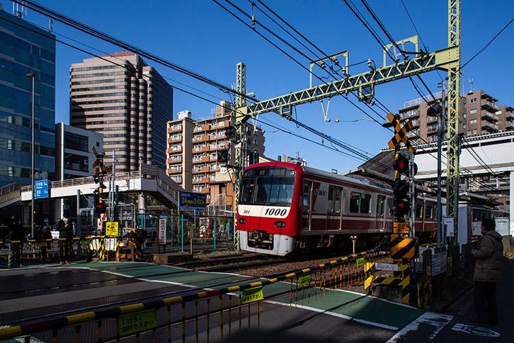 鉄道100景 京浜急行 北品川駅踏切