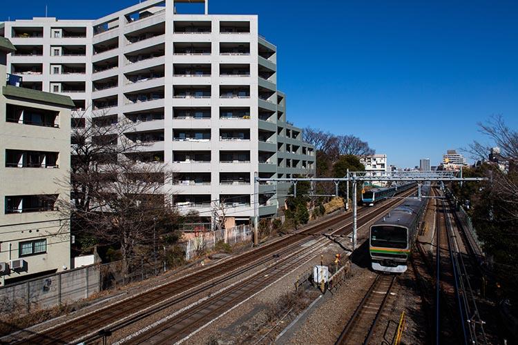 鉄道100景 旧鹿島谷を通る東海道線